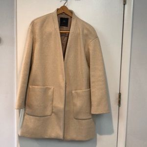 Zara outerwear tan light coat